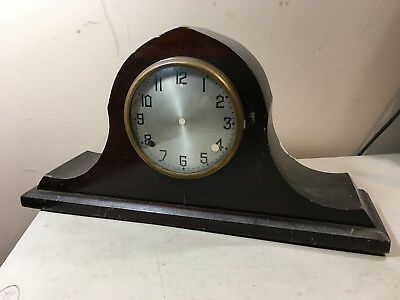 Vintage Mahogany Hump Back Mantle Clock Case for Parts / Repair