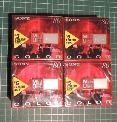 Mini discs Sony 80 Shock Absorbing [4 packs of 5, 20 discs]