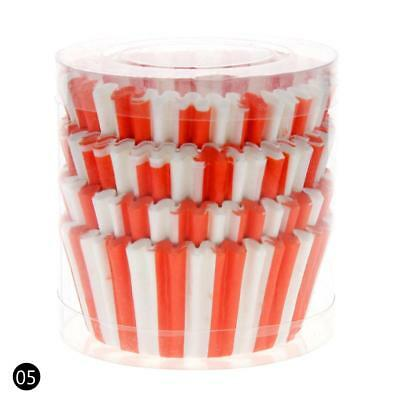 Red 100PCS Paper Cupcake Case Wrapper Muffin Liners Baking Cups UK08