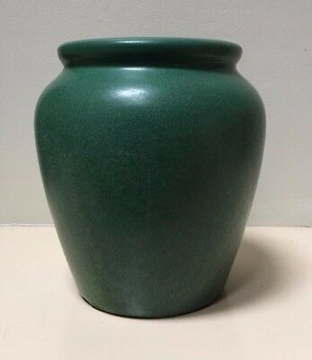 Big, Beautiful Weller Pottery Arts and Crafts Matte Green Planter - Signed