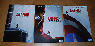 Marvel's Ant-Man Original UK Odeon UK Cinema Posters x 3 Iron Man Cap Thor