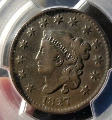 1827 Coronet Large 1C, PCGS VF-25 Superb Surface, Compare and See Problem Free