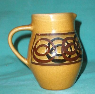 Vintage Brixham Pottery,Devon, jug/pitcher brown/pottery /British