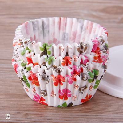 Flower 100PCS Mini Paper Cupcake Wrapper Muffin Liners Baking Cups UK
