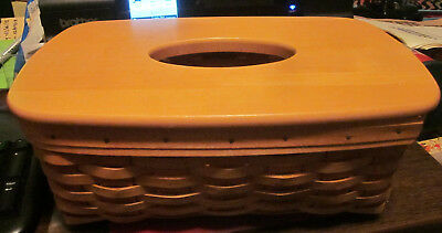 Longaberger Long Tissue Basket with Lid in great shape