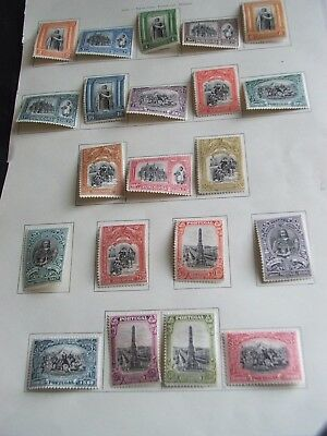 Portugal Stamps Sg 671-691 Set Good Lmm Mint