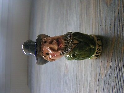 vintage? will young pottery 'arry 'awke bottle stopper (no cork)