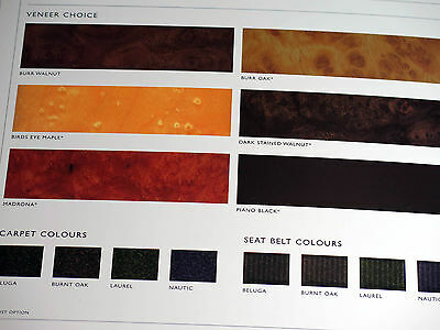 Bentley Continental GT Color and Trim Options Guide Brochure Catalog 2003