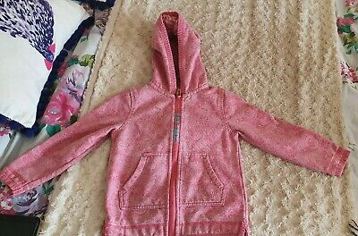 Pretty FAT FACE Pink 'Dragonfly' Patterned Hoody, Age 4-5 Years