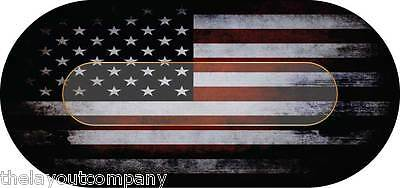 AMERICAN FLAG - 8' Poker Table Layout - Ultra-Glide™ Polyester - NEW
