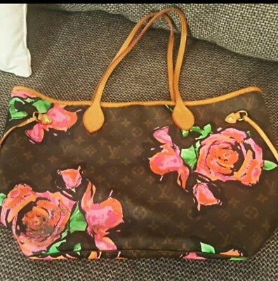 LOUIS VUITTON NEVERFULL ROSÉS SPROUSE Monogramm Tasche - Limited Edition