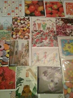 50 post box cards, wholesale joblot greeting cards