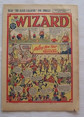 WIZARD  COMIC  NEW YEAR ISSUE 1949 – VG and RARE!!!