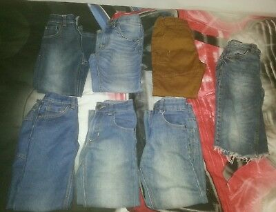 Boys bundle of jeans trousers size 6-7 years inc cut offs.. 7 items