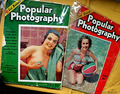 Popular Photography Magazines, Rare First & Second Editions