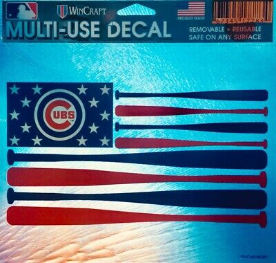 *NEW 2019 Chicago World Series Champs Cubs Decal Emblem Window Flag Multi-Use