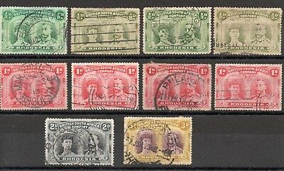 Rhodesia Double Heads (1910 - 1913) 10 Used