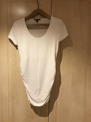 Isabella Oliver Size 3 (12) White Maternity T-shirt - very flattering.