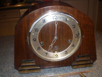 Antique Gufa 3 Chimes Mantle Clock For Easy? Restoration. V G Condition