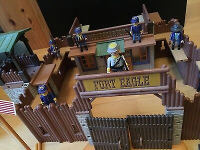 Playmobil 3023 Fort Eagle Western-Fort (Nordstaaten) in OVP + Zusatz-Figuren