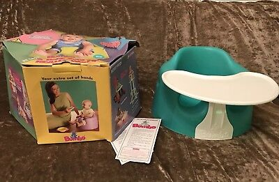 Bumbo Baby Seat With Tray And box