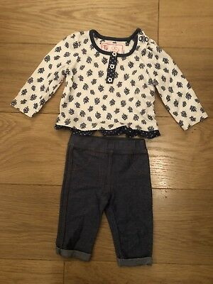 Baby Girls F&F Blue Long Sleeved Outfit