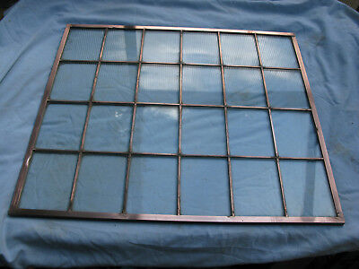 Vintage Art Deco Architectural Copper Light Window Panel