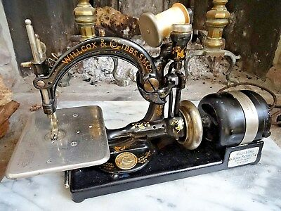Antique SEWING MACHINE WILLCOX & GIBBS Electric Aug. 28, 1894  Works
