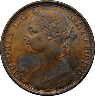 1891 Penny. Good Extremely Fine. Spink Values EF £70, UNC £300