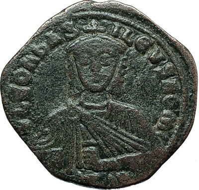 LEO VI the WISE 886AD Constantinople Follis Medieval Byzantine Coin i66002