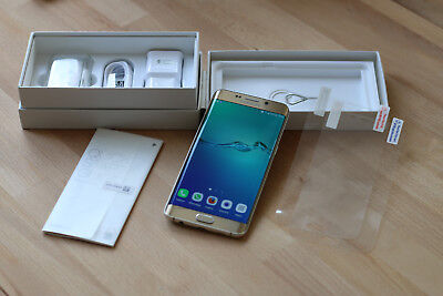 SAMSUNG Galaxy S6 Edge+ (SMG928F), gold, Android 7, Edge Plus mit Rechnung, TOP!
