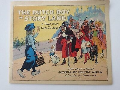 "1925  ""the Dutch Boy In Story Land"" - Dutch Boy Paint Advertising - Paint Book"