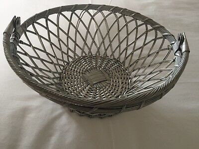 Art Deco Style, Arts & Crafts Deep Bowl, Basket in Metal, Ideal For Xmas Table.