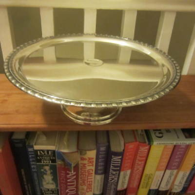 Antique Silver Plate Cake Stand. Perfect Christmas Gift!