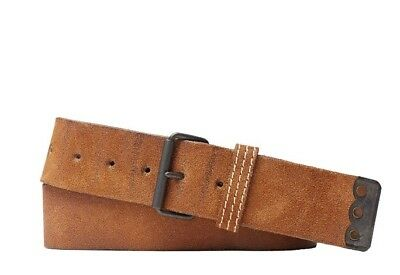"Ralph Lauren RRL Brown Boondocker Roughout Suede Belt 30""RRP £205"