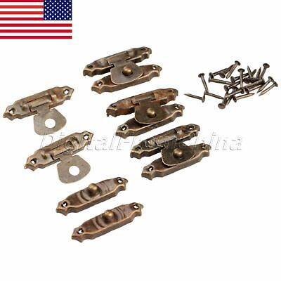 Useful Antique Bronze Box Latch Hasp For Wood Chest Gift Jewelry Box Decorative
