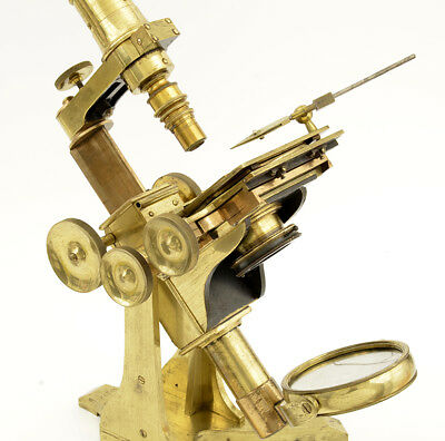 c.19th Early Andrew Ross brass microscope (1849)