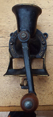 Vintage Cast Iron Spong No.1 Coffee Bean Grinder Wall Or Table Mounting No Tray