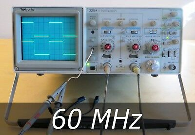 Tektronix 2215A 2-Channel 60 MHz Analog Oscilloscope +2 New Probes. Very clean.