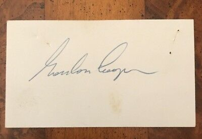 Gordon Cooper Signed Card NASA Astronaut