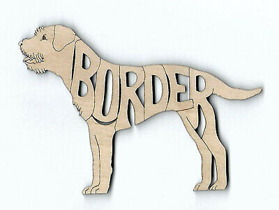Border Terrier Dog laser cut and engraved wood Magnet