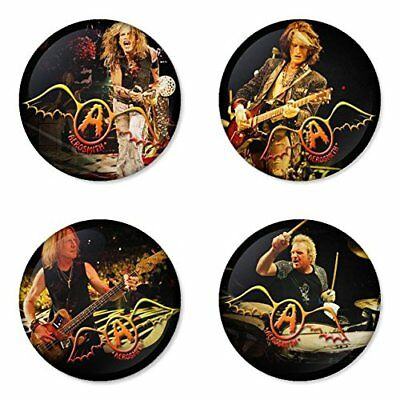 Aerosmith, B - 4 chapas, pin, badge, button