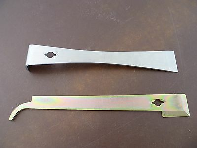 Set of Two Stainless Steel Hive Tools
