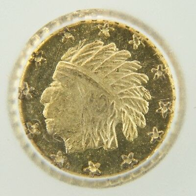 1859 California Gold Token Octagonal Indian - MS65 PL