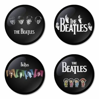 The Beatles, B - 4 chapas, pin, badge, button