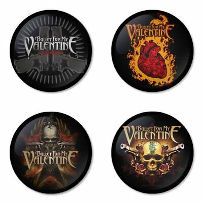 Bullet for my valentine, B - 4 chapas, pin, badge, button