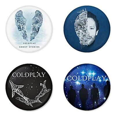 Coldplay, B - 4 chapas, pin, badge, button