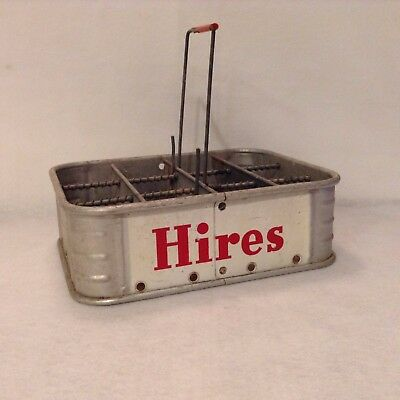 Hires Vintage Metal Soda Bottle Carrier