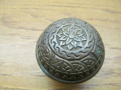 Old Eastlake ?? Brass ? Bronze ? Door Knob...nice Ornate Detail