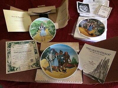 Wizzard Of Oz Collector Plates Knowles W/ Docs & Box